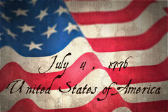 Composite image of independence day Royalty Free Stock Photography