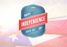 Composite image for independence day Royalty Free Stock Photography