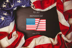 Composite image of independence day graphic Royalty Free Stock Photography