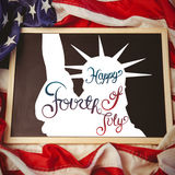 Composite image of independence day graphic Stock Photography