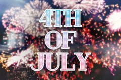 Composite image of independence day graphic Stock Image