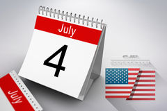 Composite image of independence day graphic Royalty Free Stock Images