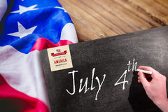 Composite image of independence day graphic Stock Images