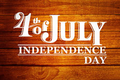 Composite image of independence day graphic Royalty Free Stock Photos