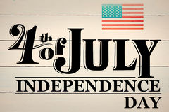Composite image of independence day graphic Royalty Free Stock Photo