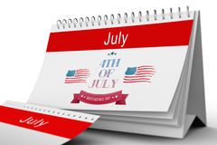 Composite image of independence day graphic Stock Photos