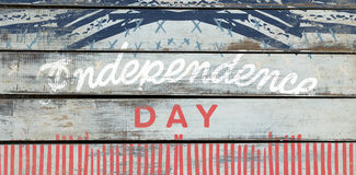 Composite image of independence day text against white background Royalty Free Stock Images