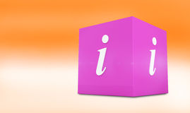 Composite image of info cube Royalty Free Stock Photos