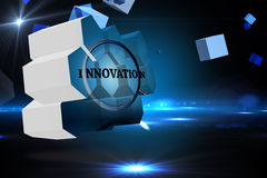 Composite image of innovate on abstract screen Stock Photos