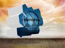 Composite image of innovate on abstract screen Stock Images