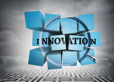 Composite image of innovation on abstract screen Royalty Free Stock Photo