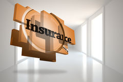 Composite image of insurance on abstract screen Royalty Free Stock Image
