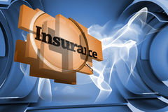 Composite image of insurance on abstract screen Royalty Free Stock Photo