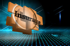 Composite image of insurance on abstract screen Royalty Free Stock Photos