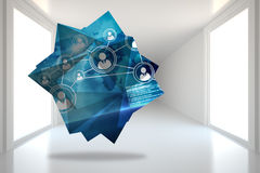 Composite image of interface on abstract screen Royalty Free Stock Photo