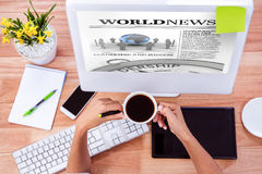 Composite image of international newspaper Royalty Free Stock Photography