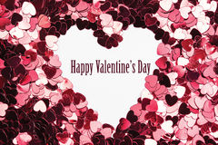 Composite image of inverted heart shape in confetti Royalty Free Stock Photo