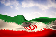 Composite image of iran flag waving Royalty Free Stock Image