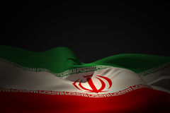 Composite image of iran flag waving Royalty Free Stock Images