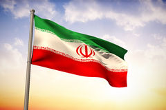 Composite image of iran national flag Royalty Free Stock Photo