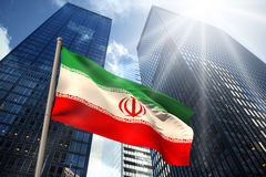 Composite image of iran national flag Royalty Free Stock Photography