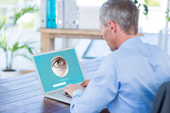 Composite image of iris recognition Stock Photo
