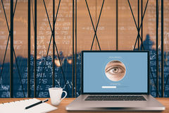 Composite image of iris recognition Royalty Free Stock Photos