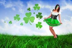 Composite image of irish girl smiling Royalty Free Stock Photos