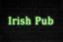 Composite image of irish pub sign Stock Images