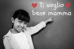 Composite image of italian mothers day message Royalty Free Stock Images