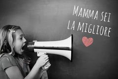 Composite image of italian mothers day message royalty free stock photo