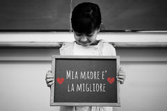 Composite image of italian mothers day message Stock Photo