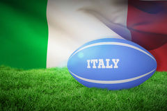 Composite image of italy rugby ball Royalty Free Stock Image