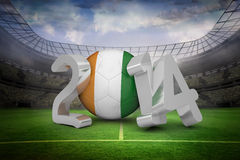 Composite image of ivory coast world cup 2014 Royalty Free Stock Images
