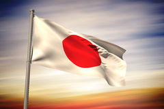 Composite image of japan national flag Stock Photo