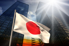 Composite image of japan national flag Royalty Free Stock Image