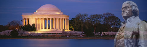 Composite image of Jefferson Memorial and bust of Thomas Jefferson Royalty Free Stock Image
