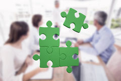 Composite image of jigsaw puzzle Stock Images