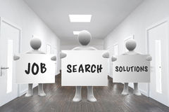 Composite image of job search solutions vector illustration