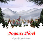 Composite image of joyeux noel Stock Photos