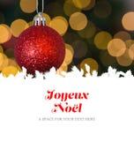Composite image of joyeux noel Stock Photo