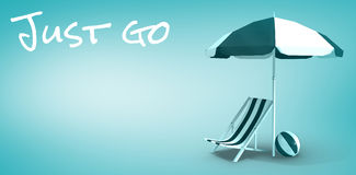 Composite image of just go message Stock Photo