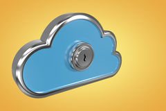 Composite image of keyhole in cloud shape locker 3d Royalty Free Stock Image