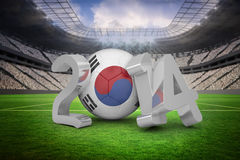 Composite image of korea republic world cup 2014 Royalty Free Stock Photo