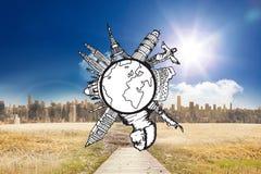 Composite image of landmarks around the world Stock Image