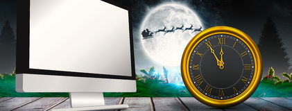Composite image of large clock Stock Image