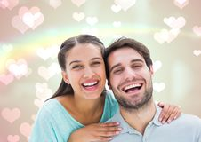 Composite image of laughing couple Royalty Free Stock Image