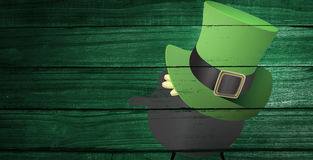 Composite image of leprechaun hat Royalty Free Stock Photo