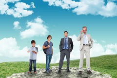 Composite image of life stages of businessman Stock Photo