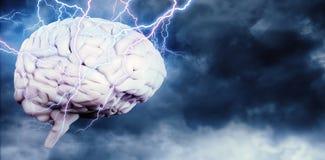 Composite image of lightning bolt Royalty Free Stock Photo